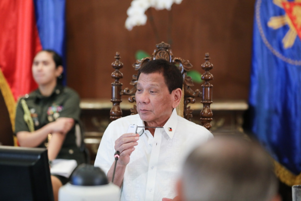 NOT NOW. File photo of President Rodrigo Duterte presiding over the Cabinet Meeting at the Malacañang Palace on October 11, 2019. Malacañang Photo